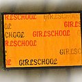 Vintage Girlschool Patch