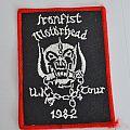 Motörhead - Patch - MOTORHEAD original iron fist tour patch 1982