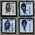 KISS cartoon patch set