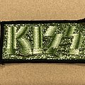 KISS glitter patch - green