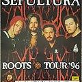 Sepultura Roots Tour 1996 poster