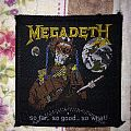 Megadeth - So far, So good... So what! Vintage patch