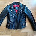None - Battle Jacket - Straight to Hell Leather Jacket Size 36