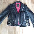 Leather Jacket - Battle Jacket - Vintage Leather Jacket