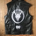 DIY Dragged into Sunlight DIY custom leather Battle jacket / vest