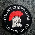 Christians to the Lions woven Patch