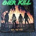 Overkill Feel The Fire LP (Signed)  Tape / Vinyl / CD / Recording etc