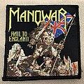 Manowar - Hail to England - black  Patch