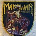 Manowar - Into Glory Ride - golden border Patch