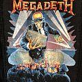 Megadeth 1990 Berlin Wall Back Patch