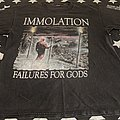Immolation failures of gods forever unseen tour 99 TShirt or Longsleeve