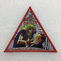 "Iron Maiden ""Be Quick Or Be Dead"" triangle patches"