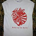 "Stallion - TShirt or Longsleeve - T-shirt Stallion ""Mounting the world"""