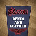 Saxon - Denim and Leather Backpatch