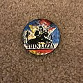 Thin Lizzy - Pin / Badge - Live and Dangerous prismatic button