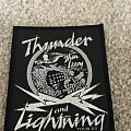 Thin Lizzy Thunder and Lightning 1983 Tour Patch