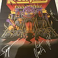 Kreator fully signed poster 16-12-18 Other Collectable