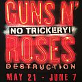 Guns N' Roses - No Trickery! 2014 residency staff shirt