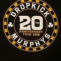 Dropkick Murphys - 20th Anniversary 2016 tour shirt