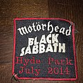 patch rare  motorhead / black sabbath  hyde park july 2014
