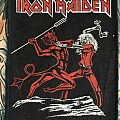 rare printed  patch Iron Maiden - Run To The Hills
