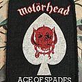 rare printed patch motorhead ace of spades