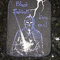 printed patch  Black Sabbath live evil