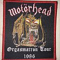 patch motorhead orgasmatron tour 1986