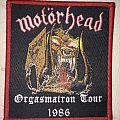 patch motorhead orgasmatron tour 1986