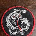 patch rond bordure rouge  de Whitesnake