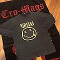 1992 Nirvana smiley face logo longsleeve TShirt or Longsleeve