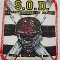 Vintage Red Boarder S.O.D. Speak English Or Die patch!