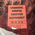 Cannibal Corpse - Other Collectable - Cannibal Corpse Sinister Ticket