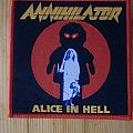 "Annihilator - ""Alice In Hell"" Patch"