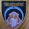 Hawkwind Shield Patch Gold Border