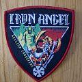 "Iron Angel - ""Hellish Crossfire"" Shield Patch (Red Border)"