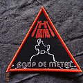 """H-Bomb """"Coup De Metal"""" Red Border Triangle Patch"""