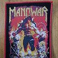 "Manowar - Patch - Manowar - ""Louder Than Hell"" Patch - Red & Goldglitter Border Version"