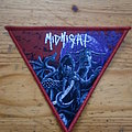 "Midnight - ""Rebirth Of Blasphemy"" Red Border Triangle Patch"