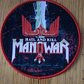 """Manowar - Patch - Manowar - """"Hail And Kill"""" Red Border Round Patch"""