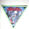 "Toxic Holocaust - ""Primal Future 2019"" Triangle Patch Green Border"