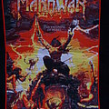 """Manowar - Patch - Manowar - """"The Triumph Of Steel"""" Woven Backpatch Red Border"""
