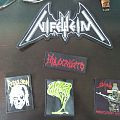 A bunch of patches (Nifelheim Holocausto Repulsion Acid Witch Sodom)