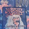 Morbid Saint - Spectrum of Death  (gold glitter) woven patch