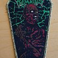 "Skeletal Remains ""Beyond the flesh"" coffin patch woven"