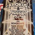 Krokus - Pin / Badge - Krokus Accept Rough Cutt Canadian Tour Poster