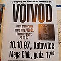 Voivod - Other Collectable - Voivod concert Poster septembre 28, 1997 tour Poland