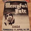 Mercyful Fate - Other Collectable - Mercyful Fate Saga Copenhagen 11 april 1985 poster original