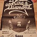 King Diamond - Other Collectable - King Diamond Artillery Copenhagen Saga 20 december 1985 original poster signed