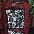 Dropdead - Battle Jacket - Homemade Backup Vest (Back only)
